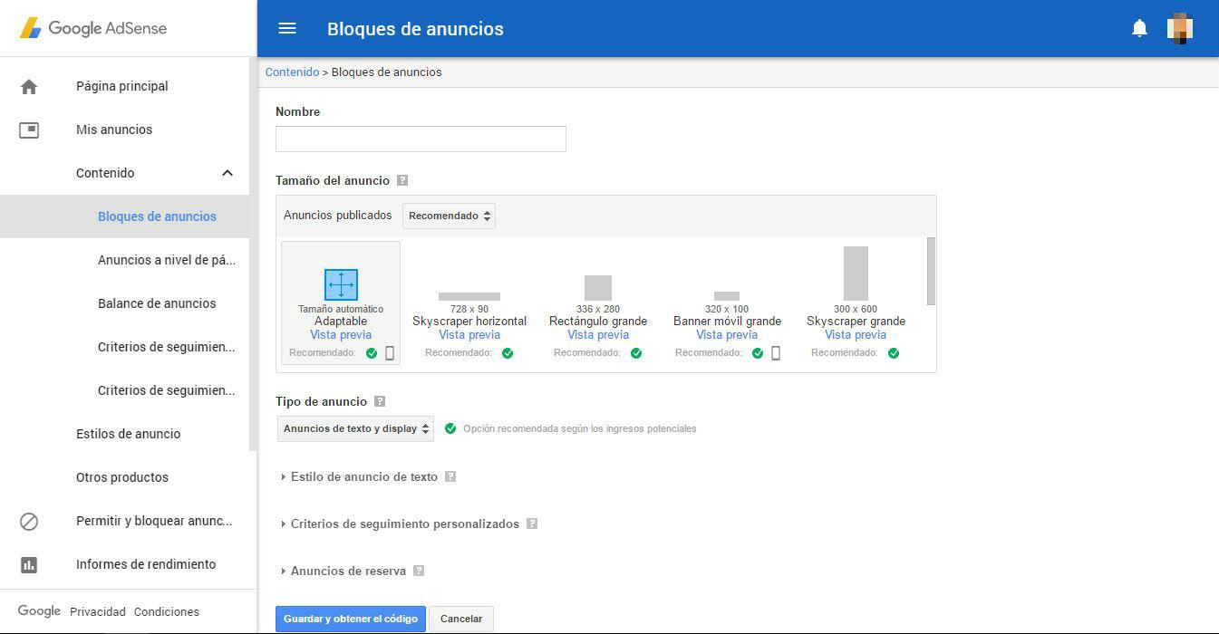 Formatos de Anuncios Google Adsense